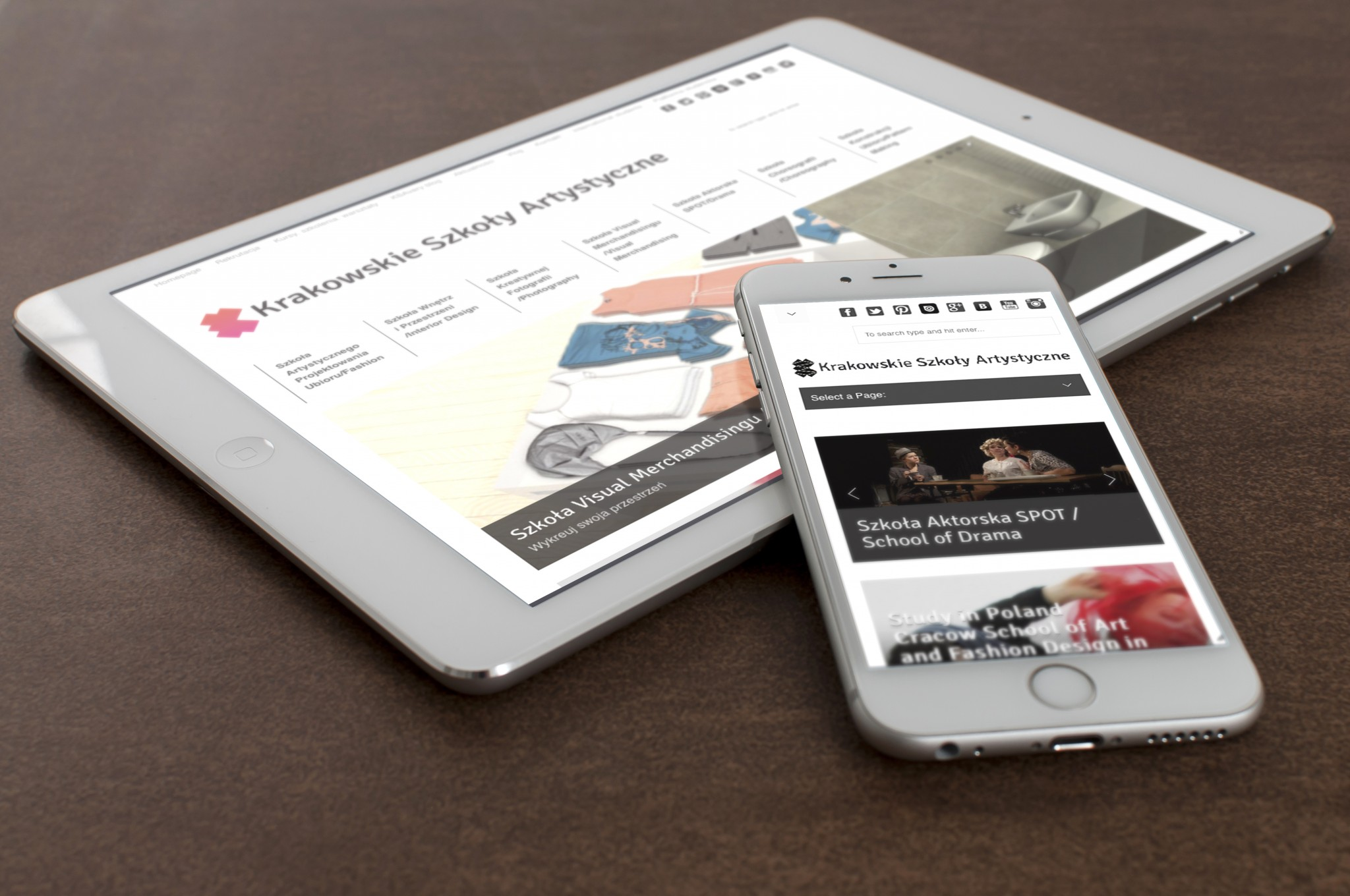 Cracow School of Art and Fashion Design website 1