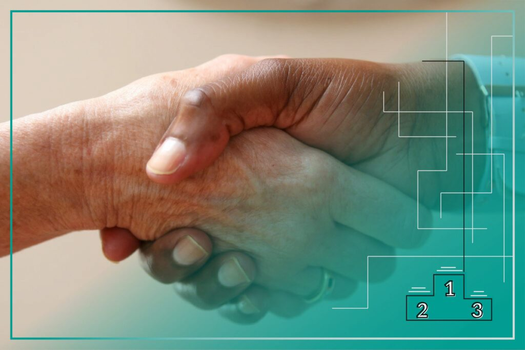Negotiations image of a handshake