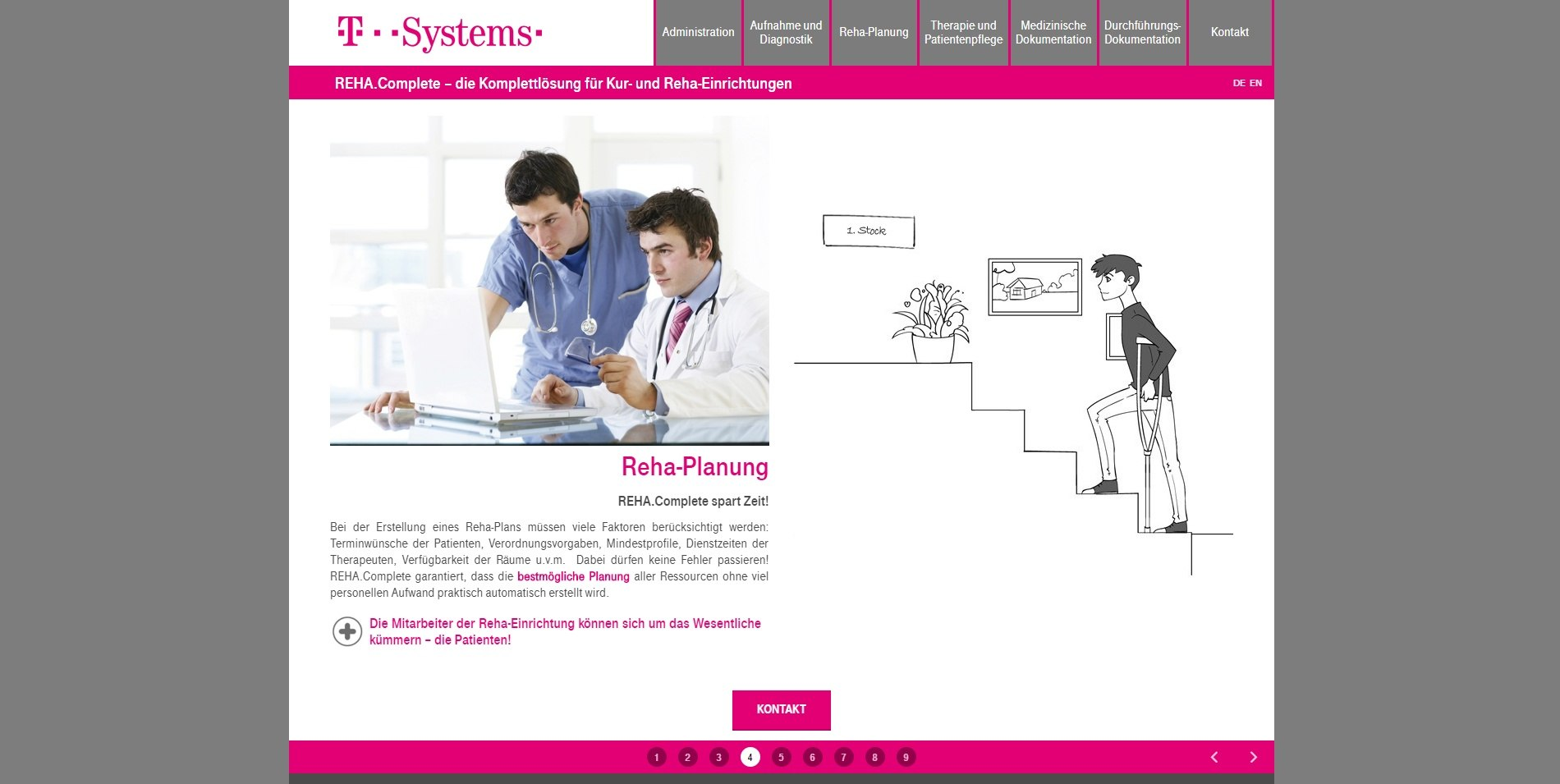 T-Systems, Austria - REHA.Complete Landing Page 6