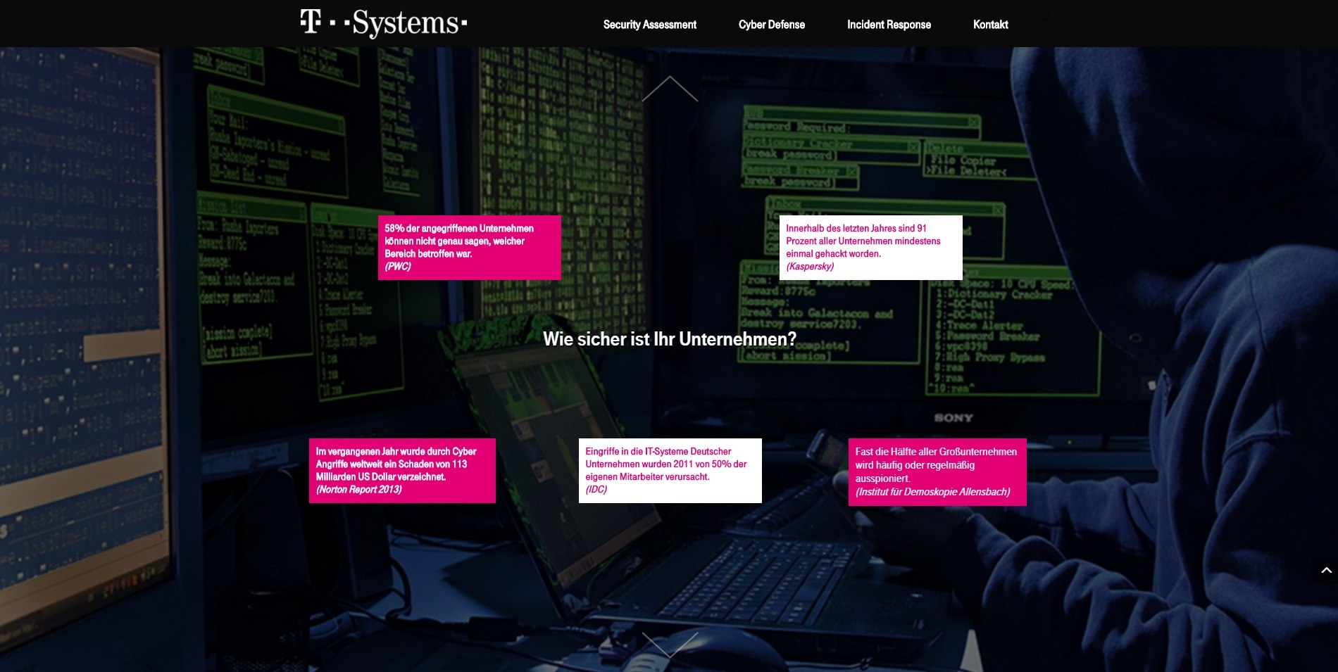 T-Systems Security Landing Page 2