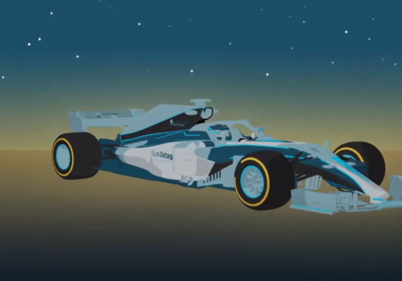 3D animated F1 model