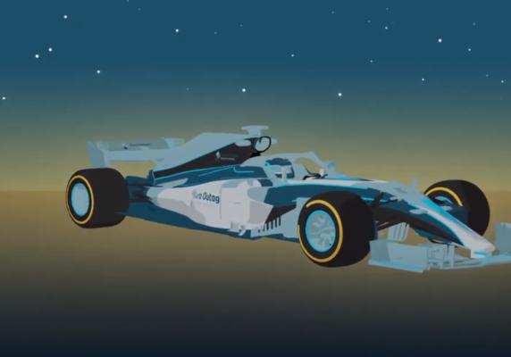 3D animated F1 model